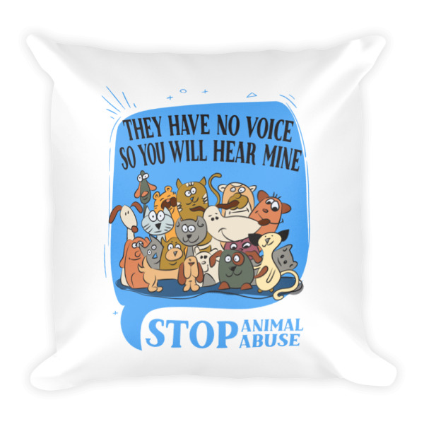 Down Pillows Animal Cruelty : Stop Animal Abuse Square Pillow - Best Friends Designs